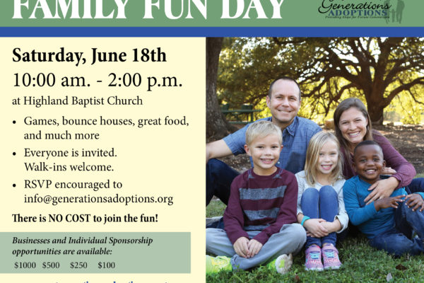 Poster with info on Family Fun Day